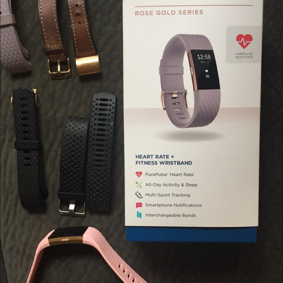 Fitbit charge 2 hr with 4 extra bands